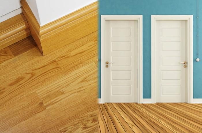 Montaż listew przypodłogowych i drzwi